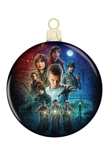 Stranger Things Kids Glass Disc Ornament