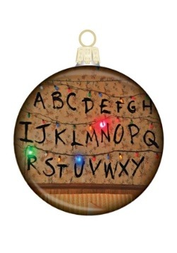 Stranger Things Glass Disc Ornament
