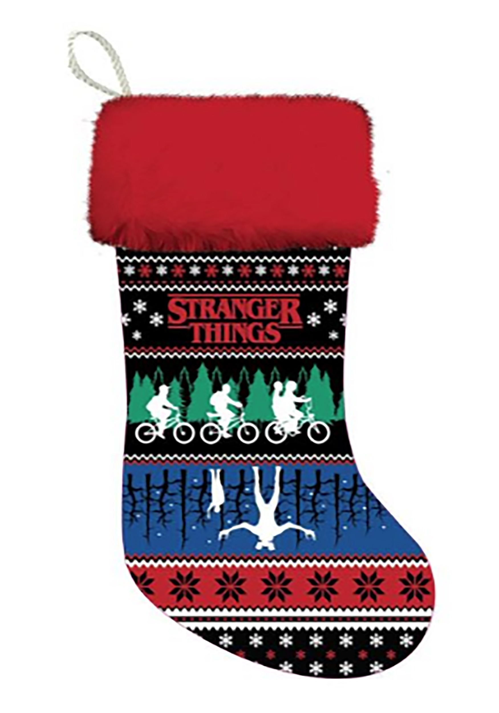 A Stranger Things Christmas.Stranger Things 19 Ugly Sweater Design Stocking