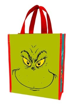 Dr Suess Grinch Naughty or Nice Recycled Shopper Tote Treat