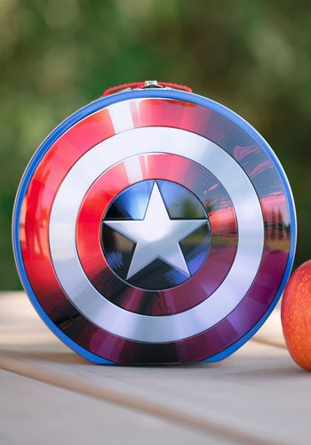 Marvel Captain America Shield Shaped Lunch Tin Tote