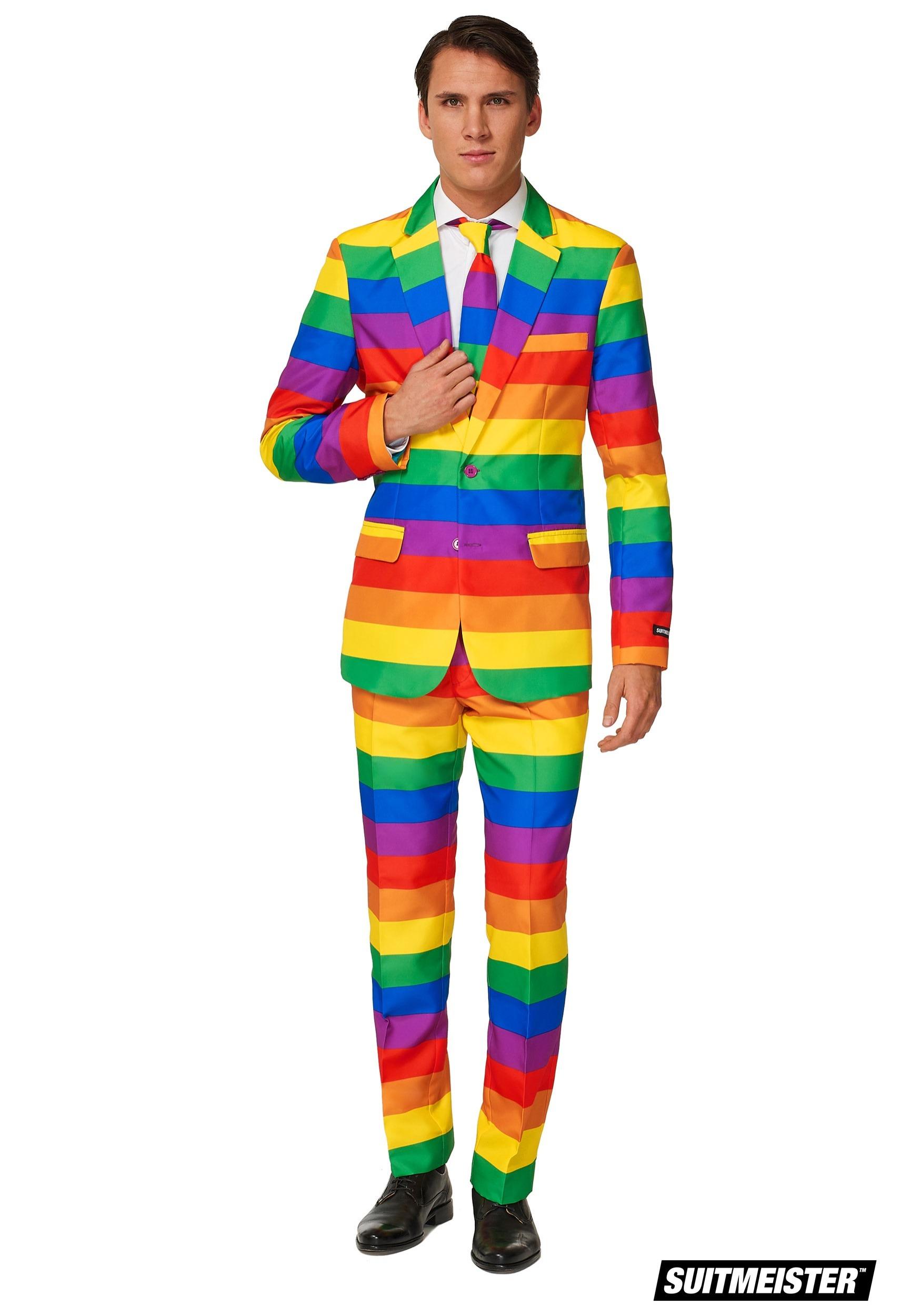 Suitmeister Men S Rainbow Suit Costume