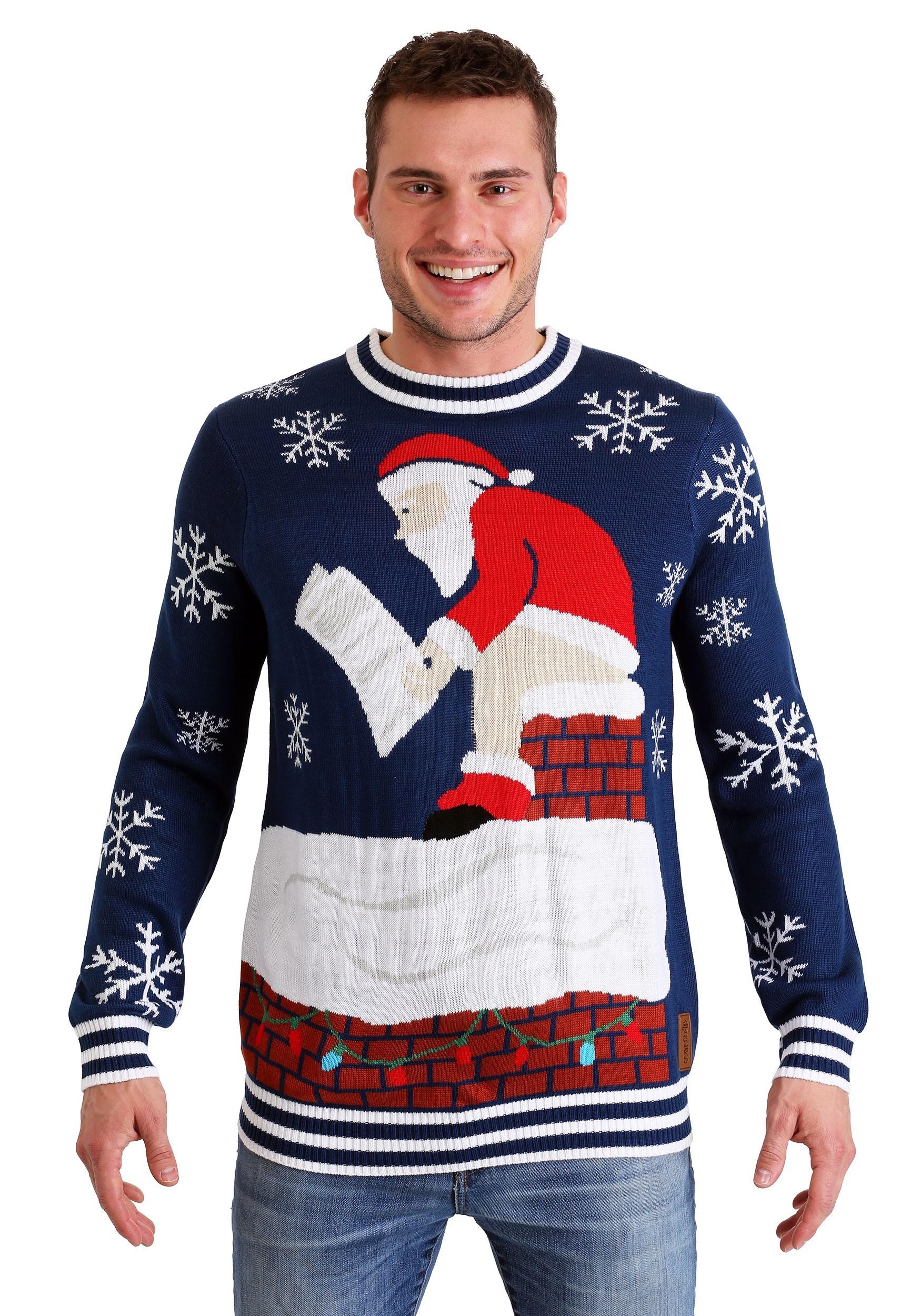 b901fa5ed Tipsy Elves Roof Santa Ugly Christmas Sweater