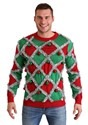 Men's Diamond Tinsel Ugly Christmas Sweater