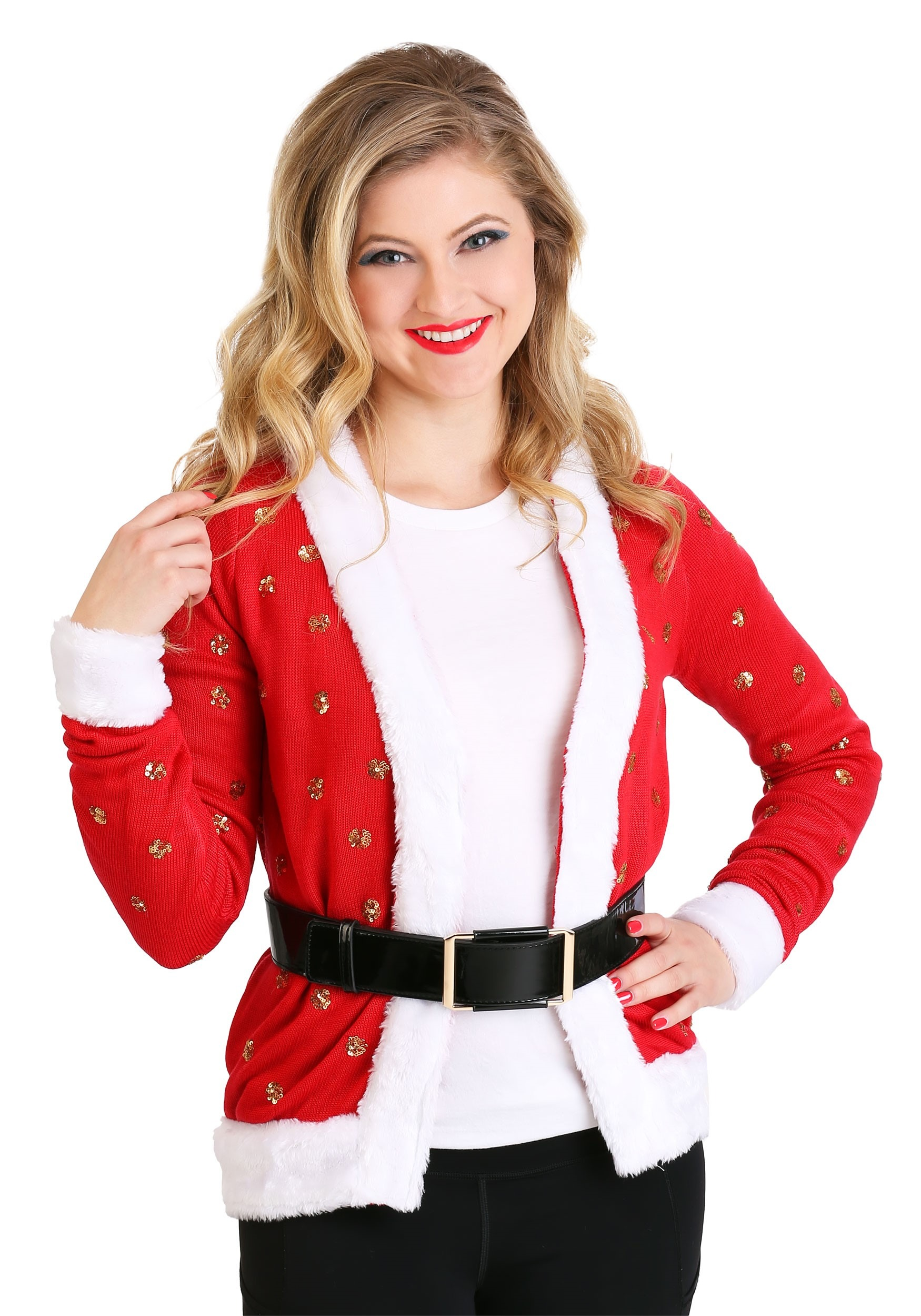 Christmas Cardigan.Tipsy Elves Santa Jacket Ugly Christmas Women S Cardigan