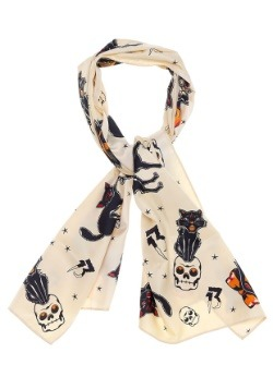 Sourpuss Clothing Bad Girl Black Cats Scarf