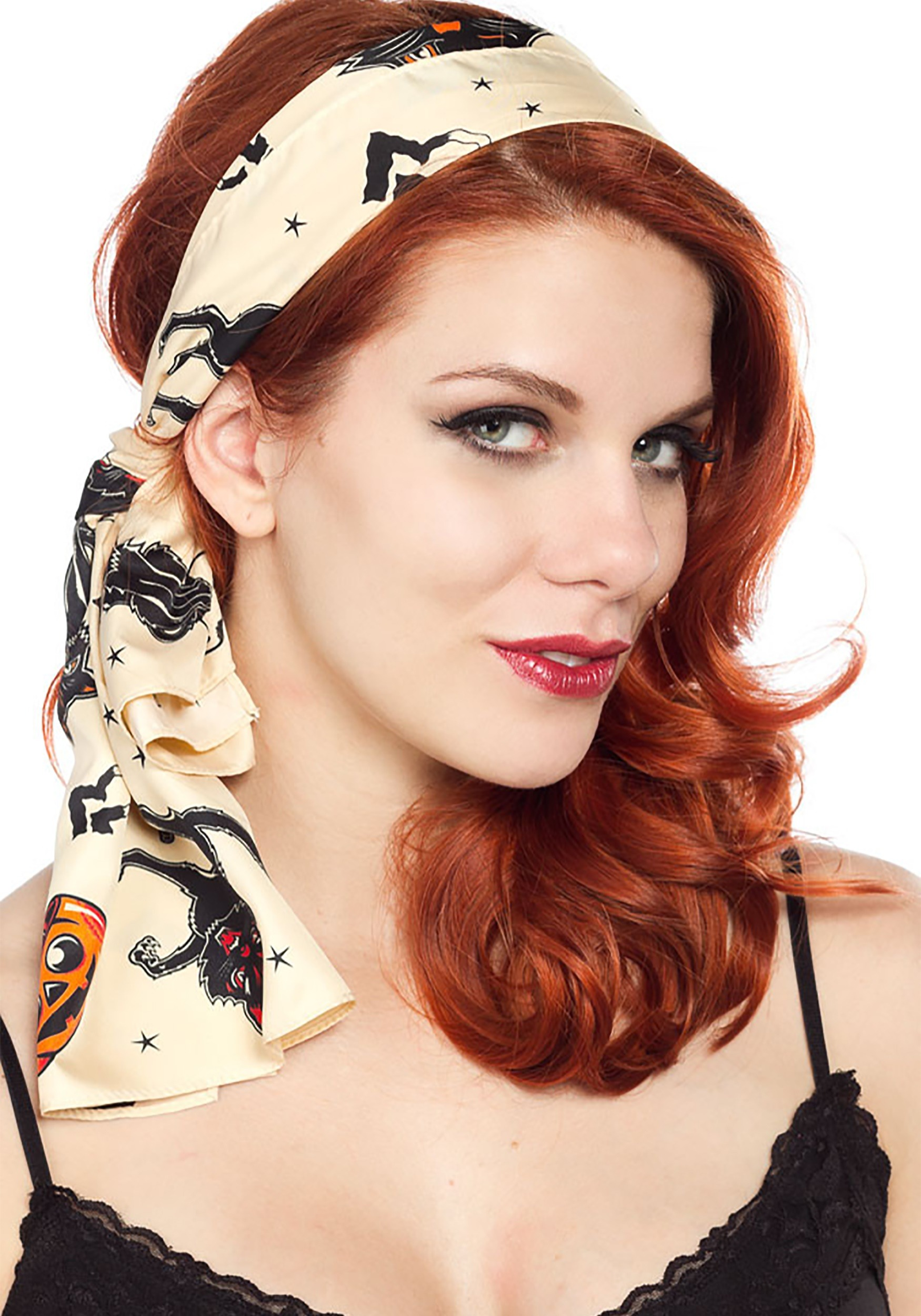 Bad Girl Black Cats Scarf From Sourpuss Clothing