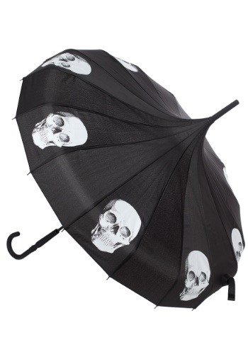 Sourpuss Clothing Skull Pagoda Umbrella Main Update