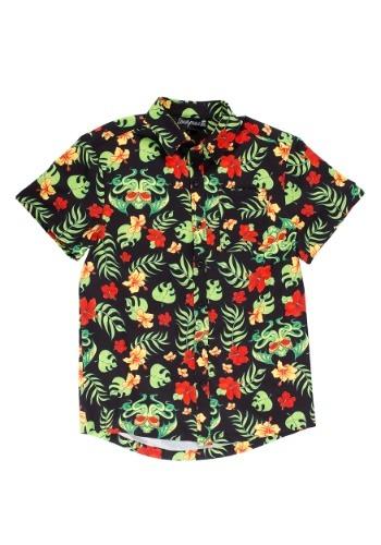 Sourpuss Tropicthulhu Guys Button Down Hawaiian Shirt
