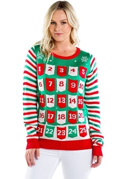 Women's Tipsy Elves Advent Calendar Ugly Christmas Sweater u