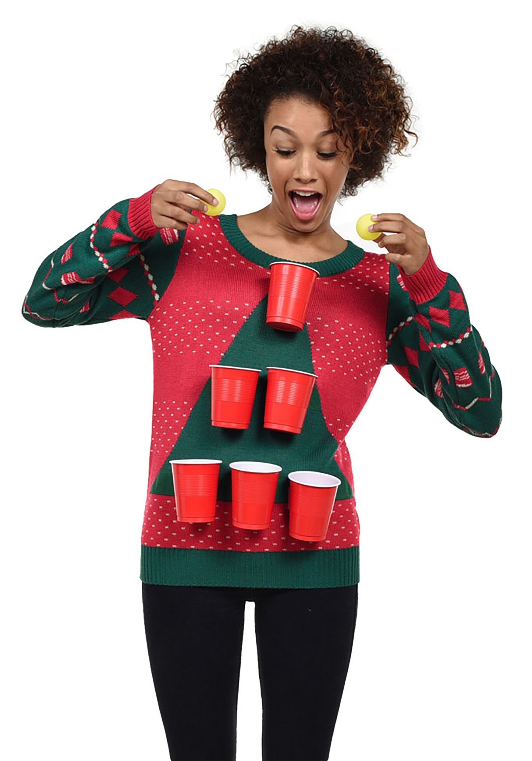 Christmas Sweater Women.Women S Tipsy Elves Beer Pong Ugly Christmas Sweater