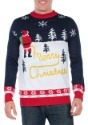 Tipsy Elves Mens Yellow Snow Ugly Christmas Sweater