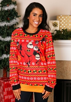 Adult The Incredibles Red Ugly Christmas Sweater