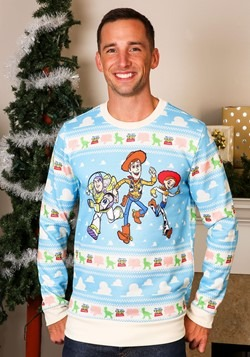 Toy Story Light Blue Adult Ugly Christmas Sweater Alt 1