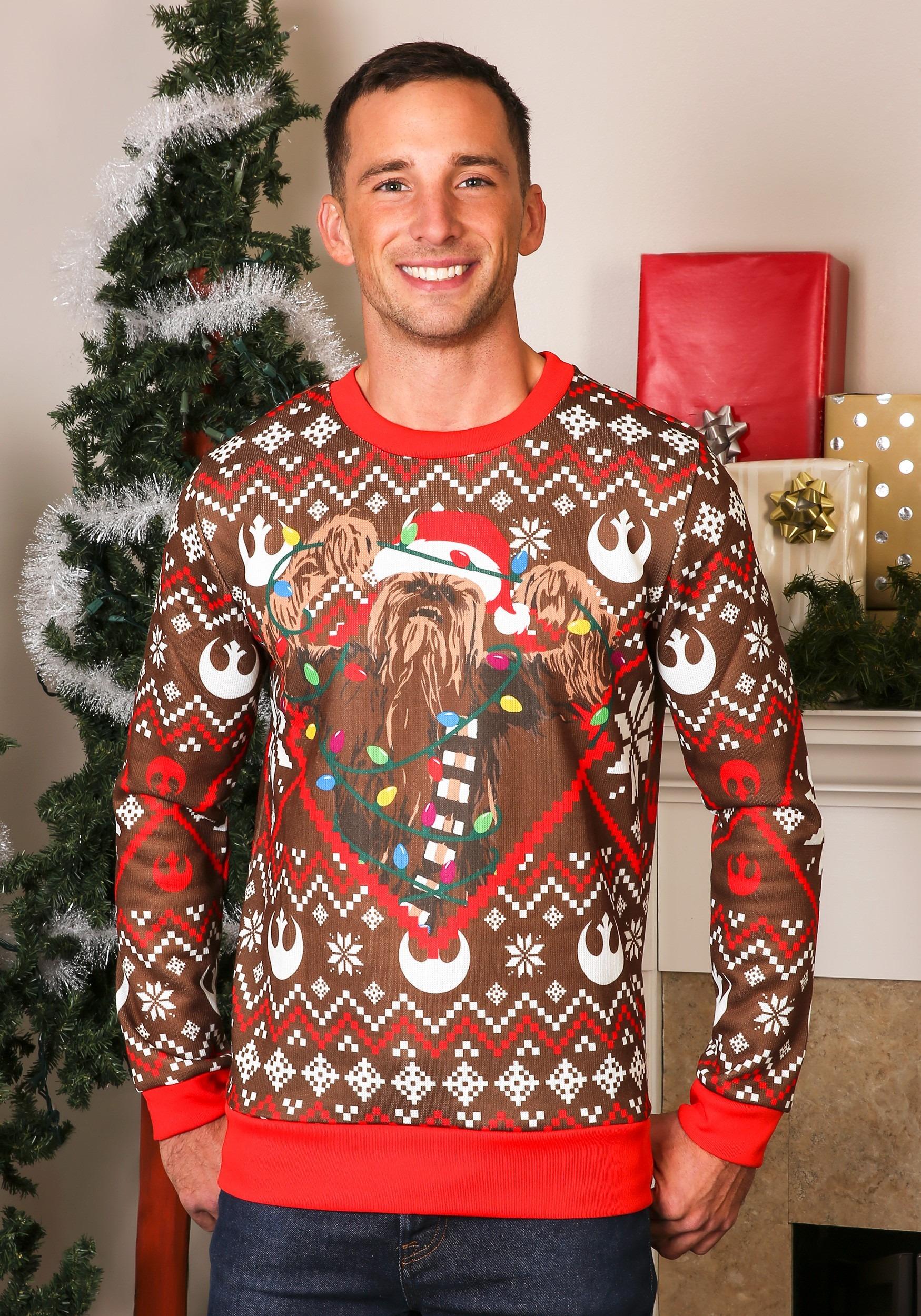 Jersey de punto Star Wars Chewbacca Ugly Christmas Sweater Chewie