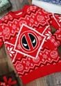 Deadpool Intarsia Logo Adult Knit Ugly Christmas Sweater Mai