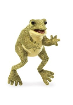 """Folkmanis Funny Frog 12"""" Puppet"""