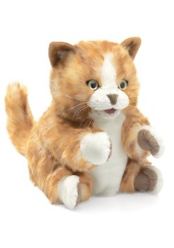 "Folkmanis Orange Tabby Kitten 8"" Puppet"