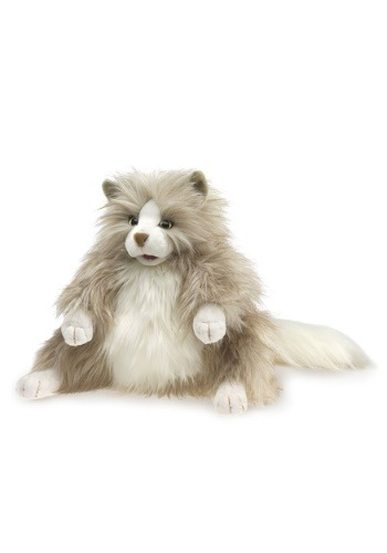 "Folkmanis Fluffy Cat 12"" Puppet"