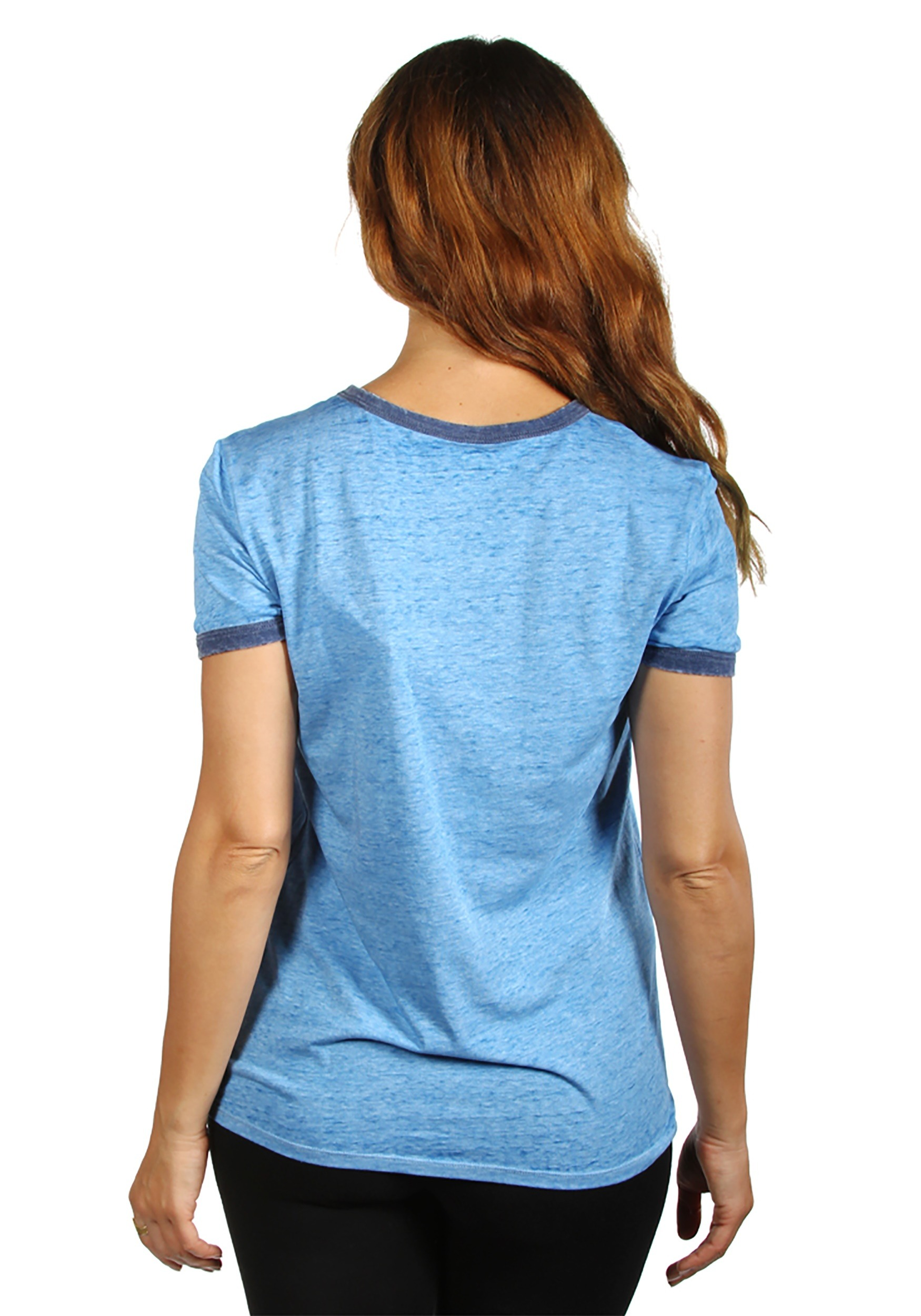 Disney Stitch Aloha Blue Ringer Women S T Shirt