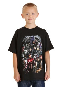 Avengers Infinity War Group Shot Boys Youth T-Shirt