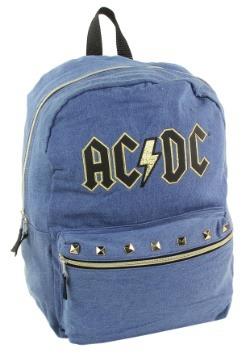 """AC/DC Blue w/ Gold Trim 17"""" Backpack-update1"""