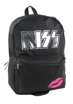 "KISS Silver Logo 17"" Black Backpack"