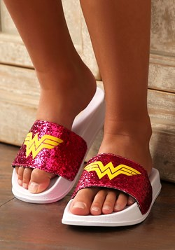 Wonder Woman Big Kid Slide Sandals