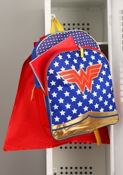 Wonder Woman Girls Backpack Detachable Cape Update