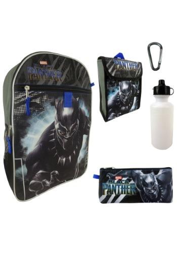 Black Panther 5 in 1 Backpack Set