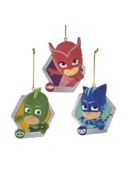 3 pc PJ Masks Personalization Ornament Set