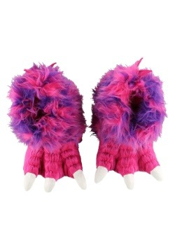 Kid's Pink Monster Paw Slippers