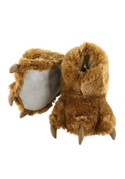 Kid's Brown Bear Paw Slippers