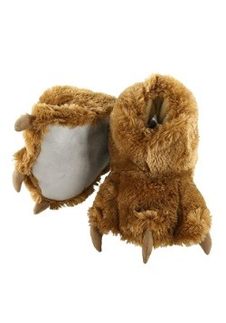 Adult Brown Bear Paw Slippers