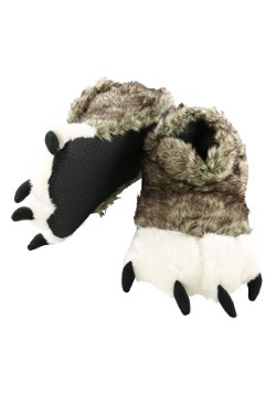 Adult Wolf Paw Slippers