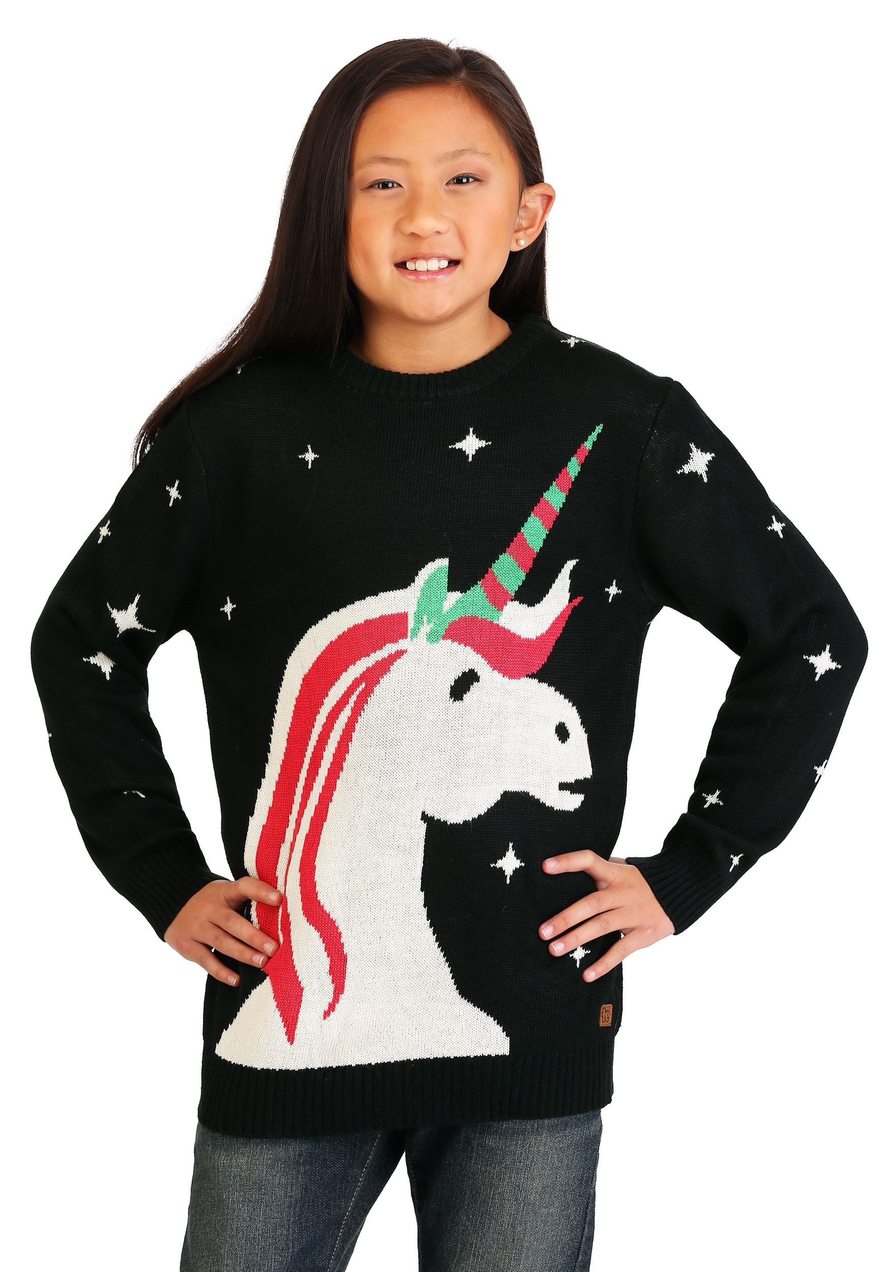 e8bcb0fff6 Tipsy Elves Christmas Unicorn Youth Ugly Christmas Sweater