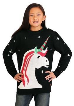 Youth Tipsy Elves Christmas Unicorn Ugly Christmas Sweater