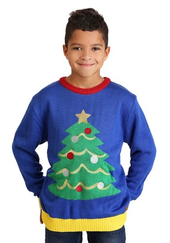 Tipsy Elves Youth Tacky Tree Ugly Christmas Sweater