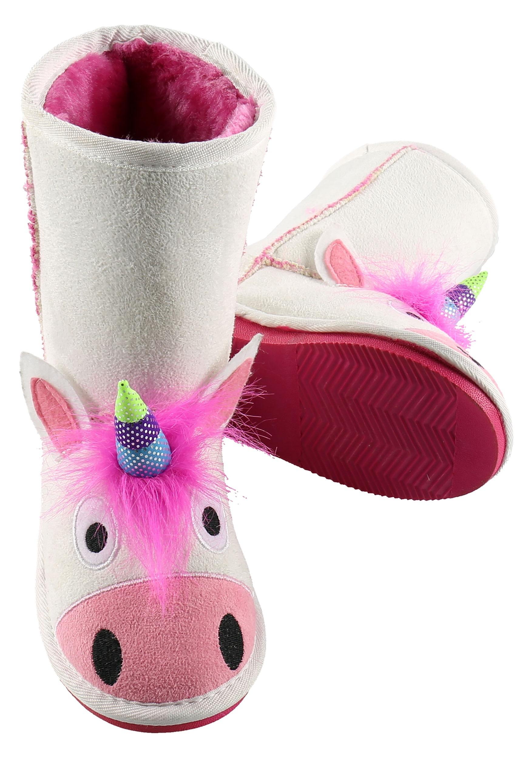 Girls Unicorn Toasty Toez Slippers