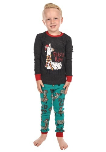 Child Llama Long Sleeve Shirt PJ Set