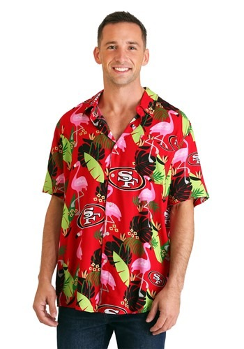 Mens San Francisco 49ers Mens Floral Shirt