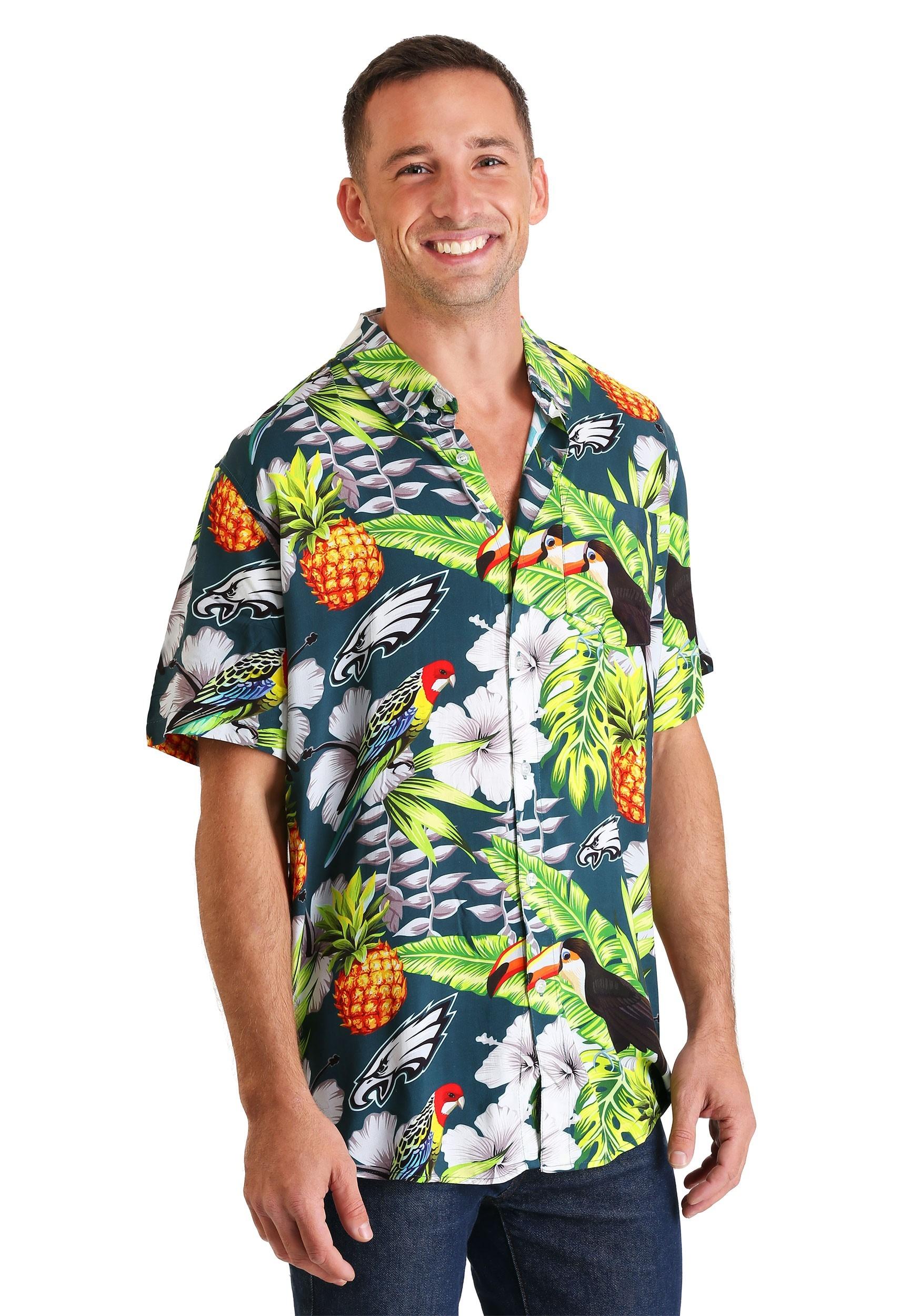 new concept 8dc2d 6d4d3 Men's Philadelphia Eagles Floral Shirt