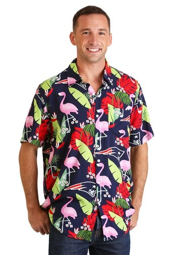 Men's New England Patriots Floral Shirt