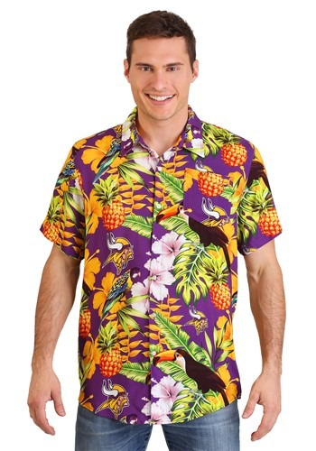 Minnesota Vikings Men's Floral Shirt