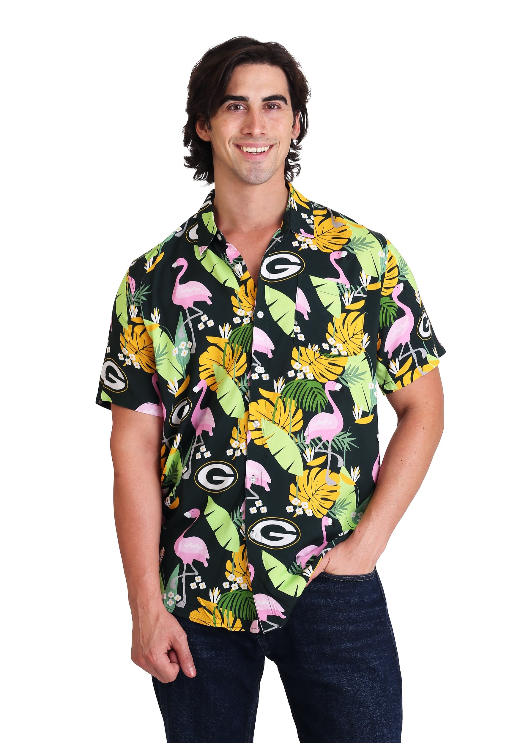 d880899f Green Bay Packers Floral Shirt