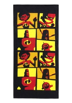 Disney/Pixar The Incredibles Heroes Panel Beach Towel