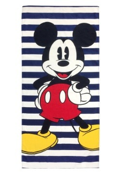Disney Mickey Mouse Navy Stripes Beach Towel