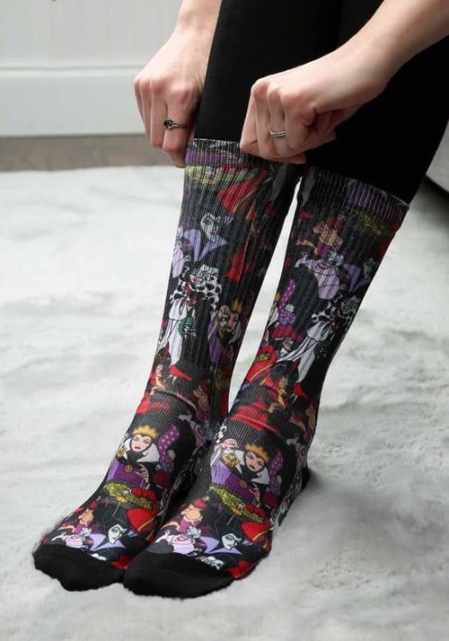 Adult Disney Villains Sublimated Socks