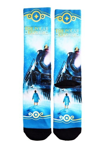 Adult The Polar Express Train Sublimated Socks