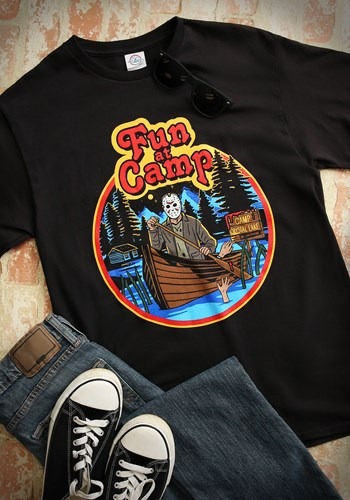 Mens Friday the 13th Fun at Camp Black TShirt Update